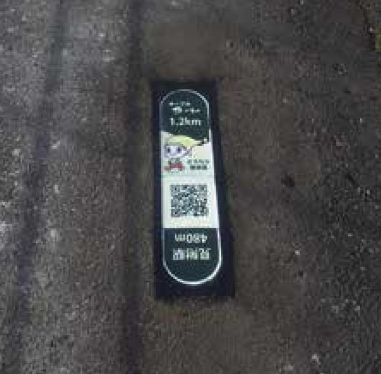 まちなか散策路のロードサイン(見附市)